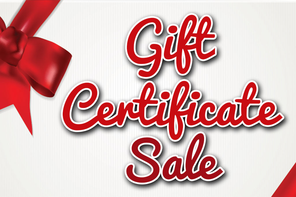 Holiday Gift Certificate Sale Gastonia